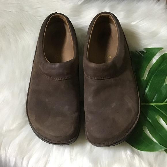 Birkenstock Mens Brown Leather Clogs